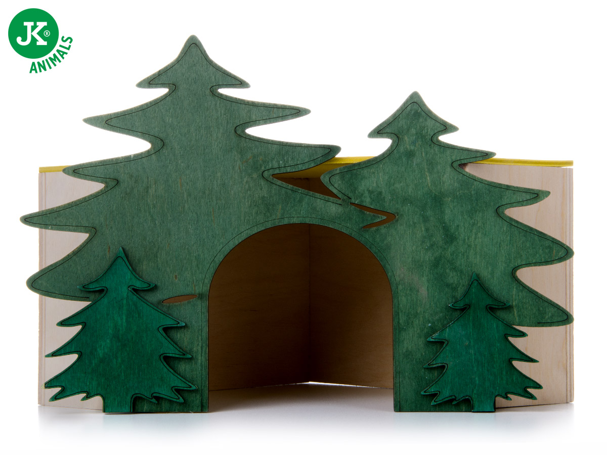JK ANIMALS domek Les rohový č. 3, pro králíky | © copyright jk animals, všechna práva vyhrazena