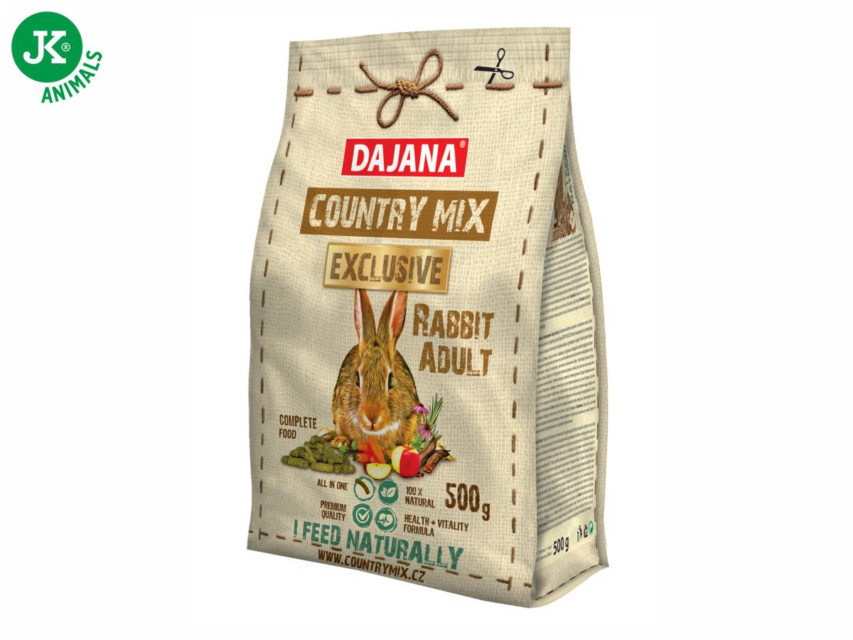 Dajana – COUNTRY MIX EXCLUSIVE, Rabbit Adult (králík) 500g   © copyright jk animals, všechna práva vyhrazena