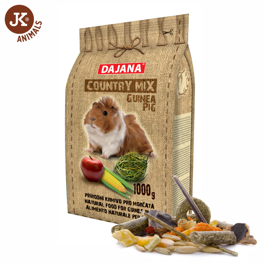 Dajana – COUNTRY MIX, Guinea Pig (morče) 1 000g   © copyright jk animals, všechna práva vyhrazena