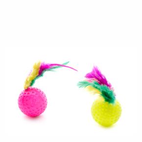 Hračka Míček s pírkem 2 ks, plastová hračka