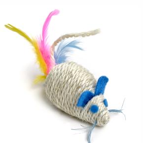 Chrastící myš, sisalová hračka