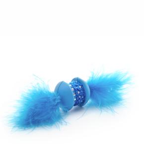 Modrá TPR činka spírkem, hračka