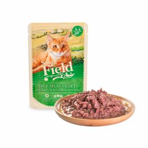 Sams Field True Meat Fillets with Duck & Jerusalem Artichoke, kapsička pro kočky 85g (Sam's Field)