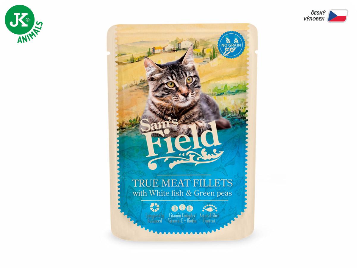 Sam's Field True Meat Fillets with White Fish & Green Peas | © copyright jk animals, všechna práva vyhrazena