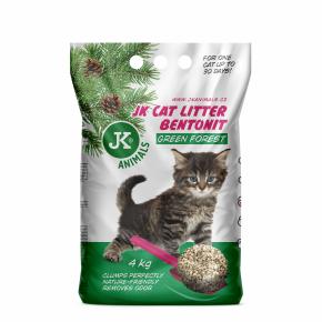 JK CAT zelený les - hrudkující podestýlka, kočkolit 4kg