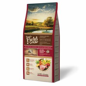 Sams Field Adult Medium Chicken & Potato, superprémiové granule 13kg (Sam's Field)