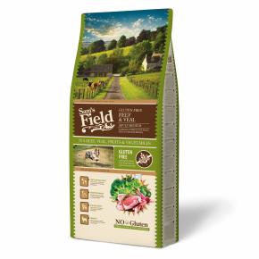 Sams Field Gluten Free Adult Medium Beef & Veal, superprémiové granule 13kg (Sam's Field)