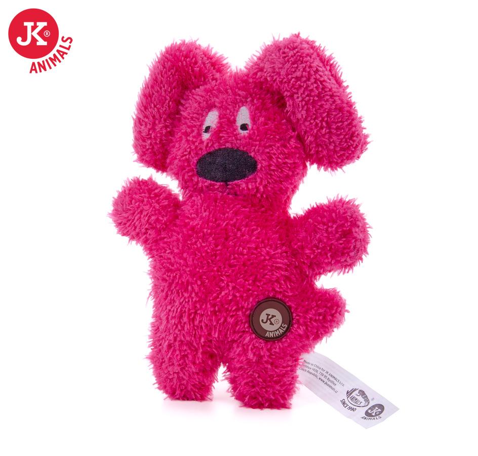 JK ANIMALS Jemný plyšový pejsek červený   © copyright jk animals, všechna práva vyhrazena