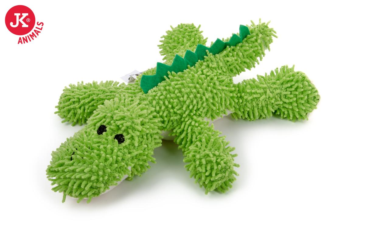 JK ANIMALS Plyšový krokodýl mop z jemného froté materiálu   © copyright jk animals, všechna práva vyhrazena