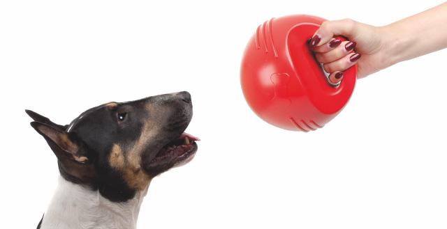 TPR – míč s uchem červený