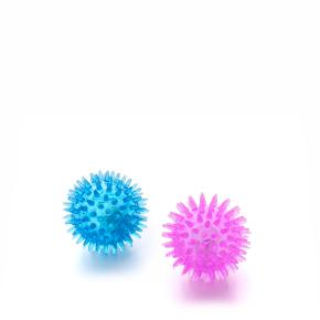 LED TPR míček s bodlinami 2 ks, odolná (gumová) hračka ztermoplastické pryže