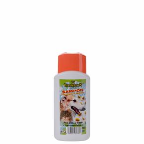 Šampon CHAMPION pro citlivou kůži s heřmánkem, 200ml, sobsahem souboru tenzidů, pro psy ikočky