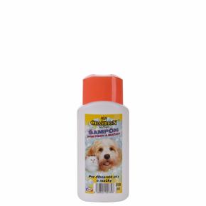Šampon CHAMPION pro dlouhou srst skondicionérem, 200ml, sobsahem souboru tenzidů, pro psy ikočky