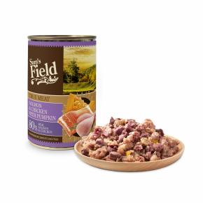 Sams Field True Salmon & Chicken With Pumpkin, superprémiová masová konzerva (Sam's Field)