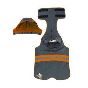 Mikina s kapucí, 2XL - oranžová