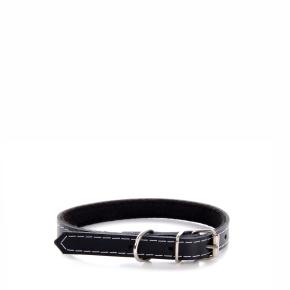 Kožený obojek JK Classic černý