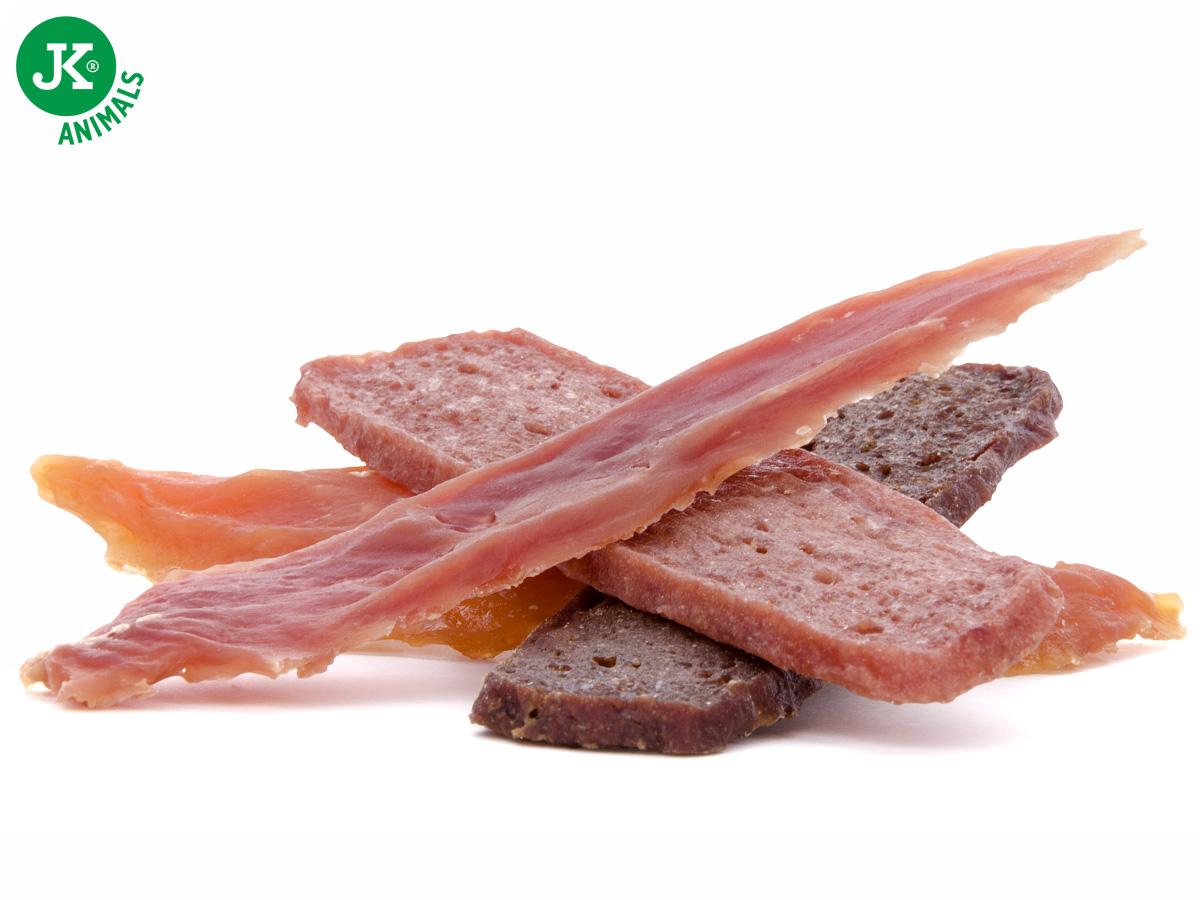 JK ANIMALS Meat Snack Mix, masový pamlsek, 80g | © copyright jk animals, všechna práva vyhrazena