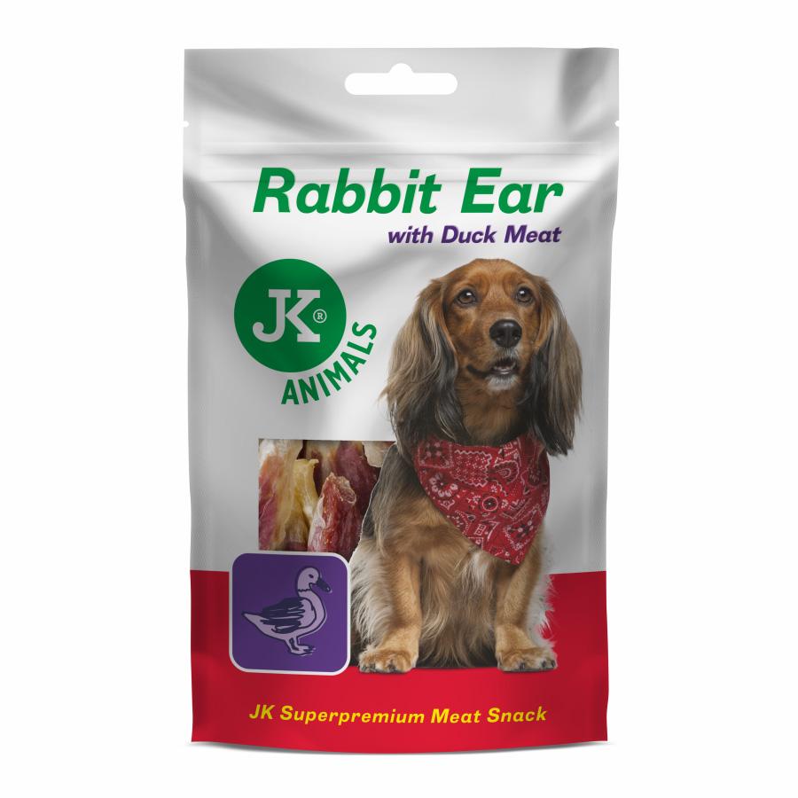 JK ANIMALS Meat Snack Rabbit Ear with Duck Meat, masový pamlsek   © copyright jk animals, všechna práva vyhrazena