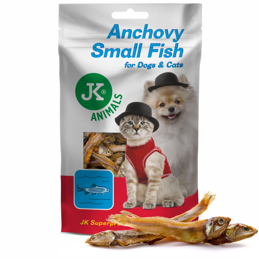 JK ANIMALS Meat Snack Small Anchovy Fish, masový pamlsek | © copyright jk animals, všechna práva vyhrazena