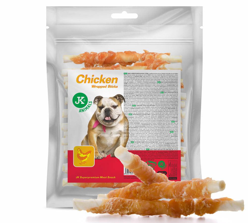 JK ANIMALS Meat Snack Chicken Wrapped Sticks, masový pamlsek | © copyright jk animals, všechna práva vyhrazena