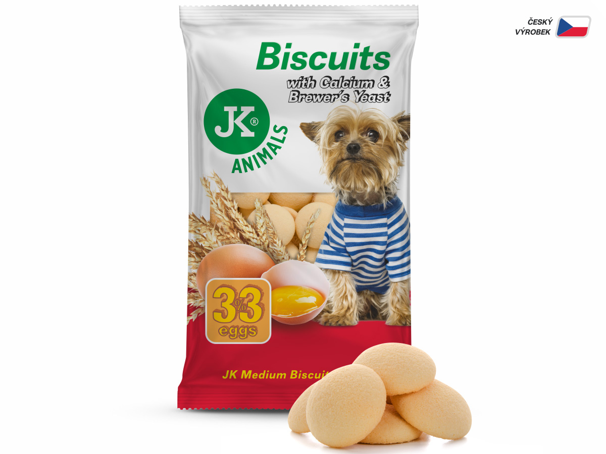 JK ANIMALS Piškoty, Biscuit with Calcium & Brewer's Yeast, 250g | © copyright jk animals, všechna práva vyhrazena