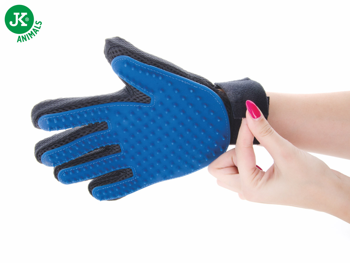 JK ANIMALS Gumová vyčesávací masážní rukavice | © copyright jk animals, všechna práva vyhrazena