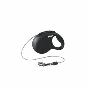 flexi New Classic Cord (lanko), velikost XS, černá