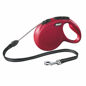 flexi New Classic Cord (lanko), velikost M, červená
