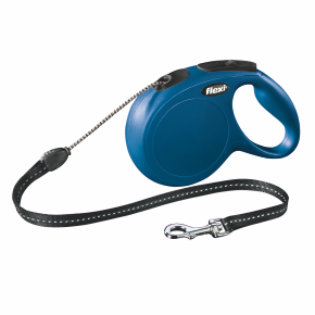 flexi New Classic Cord (lanko) vodítko, velikost M, modrá