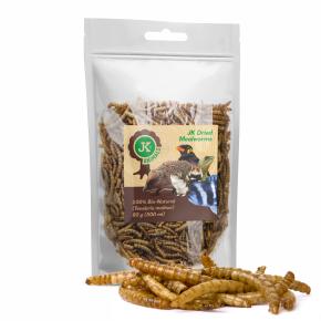 Sušené moučné červy JK Dried Mealworms, 80g, (Tenebrio Molitor)