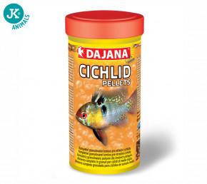 Dajana Cichlid pellets, krmivo (granule) pro ryby 250ml, 2 mm | © copyright jk animals, všechna práva vyhrazena