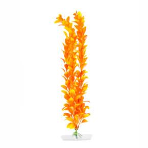 Orange Ludwigia velká, akvarijní plastová rostlinka