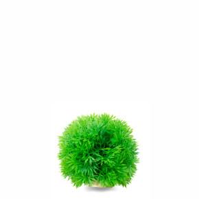 Tráva koule zelená, akvarijní plastová rostlinka