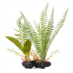 Kapradí kámen, akvarijní plastová rostlinka