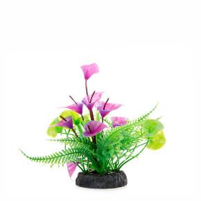 Mix květů, akvarijní plastová rostlinka