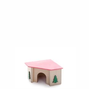 Rohový domek křeček, dřevěný domek pro hlodavce