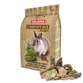 Dajana – COUNTRY MIX, Králík 1000 g, krmivo prokrálíky