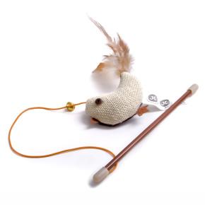 Ptáček na prutě s catnipem (šantou), hračka