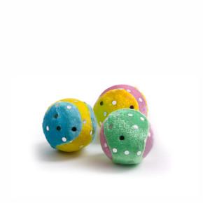 3 pěnové míčky, plyšová hračka
