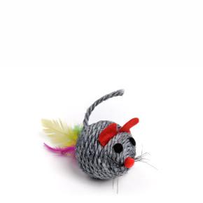 Chrastící myš koule, sisalová hračka