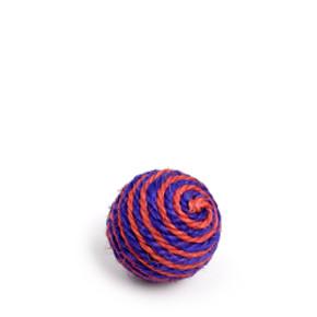 Chrastící koule, sisalová hračka