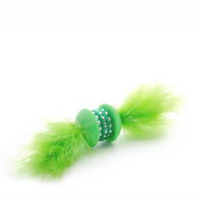 Zelená TPR činka spírkem, hračka