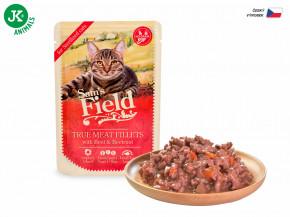 Sam's Field True Meat Fillets with Beef & Beetroot for sterilized cats | © copyright jk animals, všechna práva vyhrazena
