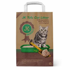 Bio-rozložitelná Tofu podestýlka přírodní, stelivo pro kočky bez chemických přísad, 2,5kg, kočkolit (Tofu Cat Litter natural)