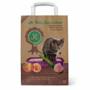 Bio-rozložitelná Tofu podestýlka svůní šťavnaté broskve, stelivo pro kočky bez chemických přísad, 2,5kg, kočkolit (Tofu Cat Litter Juicy Peach)