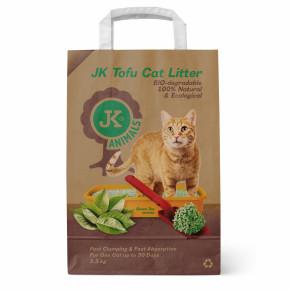 Bio-rozložitelná Tofu podestýlka svůní zeleného čaje, stelivo pro kočky bez chemických přísad, 2,5kg, kočkolit (Tofu Cat Litter Green Tea)