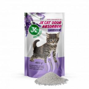 JK Lavender Absorber, pohlcovač zápachů svůní levandule, 450g, podporuje účinek kočkolitů