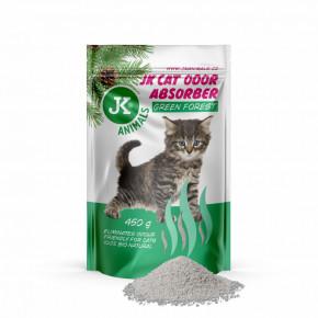 JK Green Forest Absorber, pohlcovač zápachů s vůní zeleného lesa, 450g, podporuje účinek kočkolitů