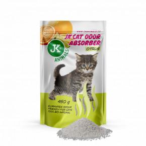 JK Citrus Absorber, pohlcovač zápachů svůní citrusů, 450g, podporuje účinek kočkolitů
