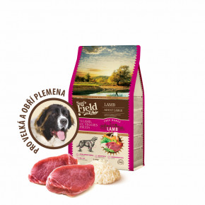 Sam's Field Low Grain Adult Large Lamb - Free Range, superprémiové granule pro dospělé psy velkých a obřích plemen s jehněčím z volného chovu, 2,5kg (Sams Field bez pšenice)